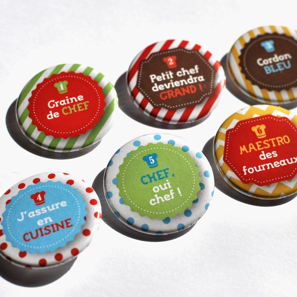 Badges personnalises atelier des chefs