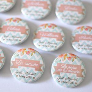 Badge nominatif invité mariage