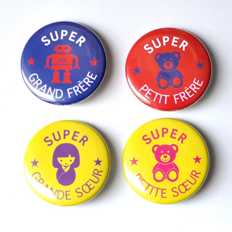 Badges frères et soeurs