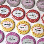 Badges marque place mariage Thème bonbons