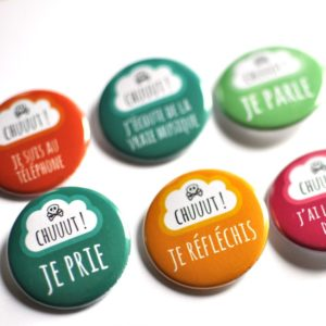 Série de badges Chut !