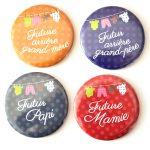 Badge magnet futur arrière grand père / mère / papy / mamie
