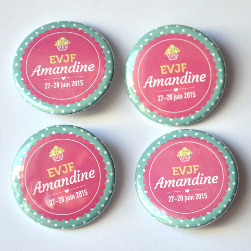 Badge evjf peche gourmandise