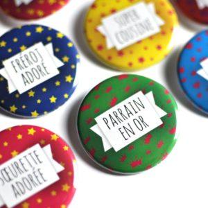 Badges pins super parrain marraine