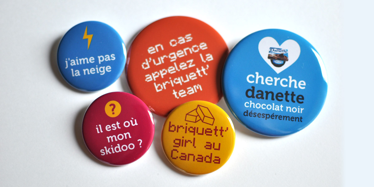 Badge message personnalise