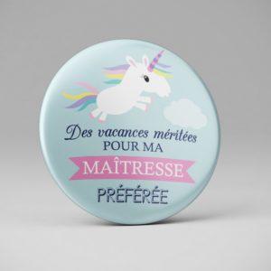 Badge remerciement maitresse