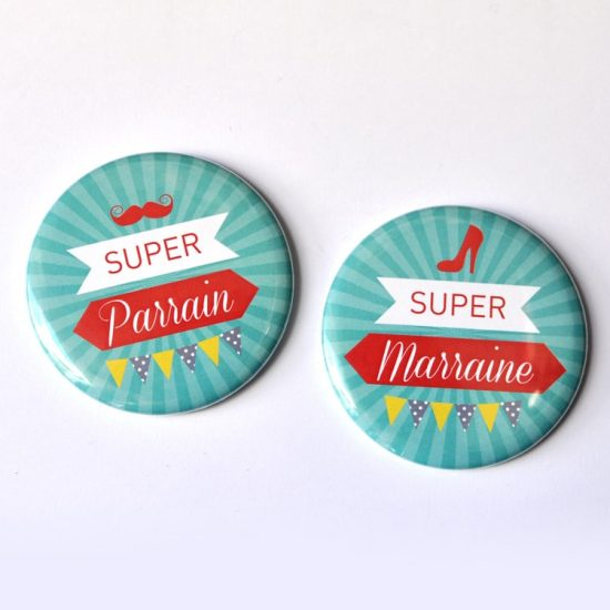 Badge magnet parrain marraine