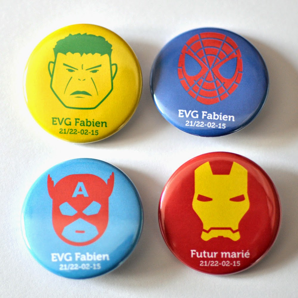 Badge evg super heros