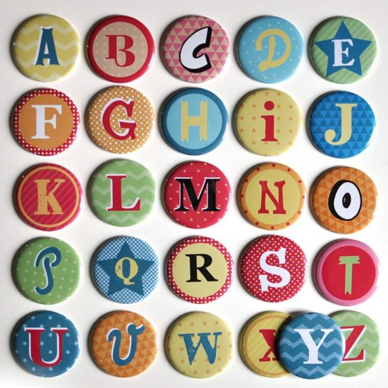 Magnets alphabet lettres prénom enfant