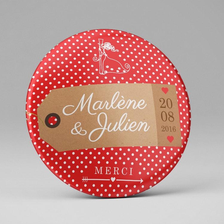 Magnet cadeau invité mariage thème voyage
