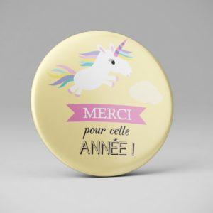 Badge merci nounou maitresse