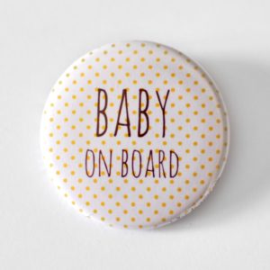 Badge femme enceinte baby on board