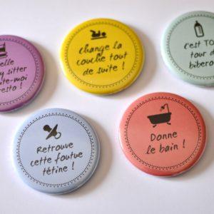 Magnets cadeaux naissance fun et original