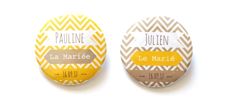 badge plan de table graphique chevrons