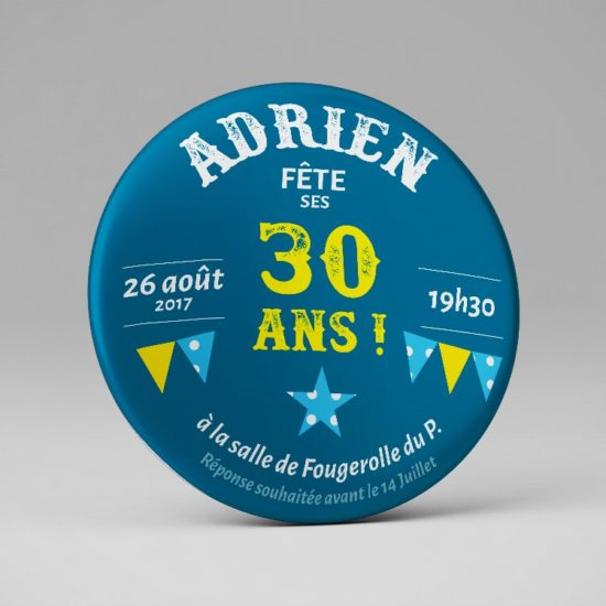 Décapsuleur Invitation originale 30 ans