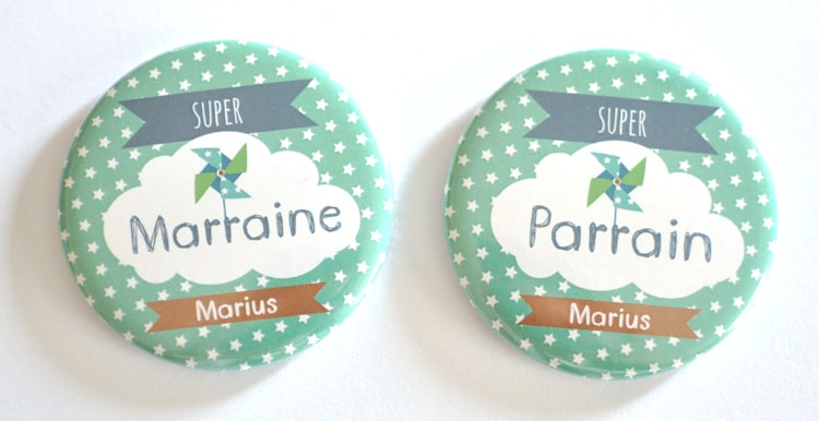 Magnet super parrain / marraine