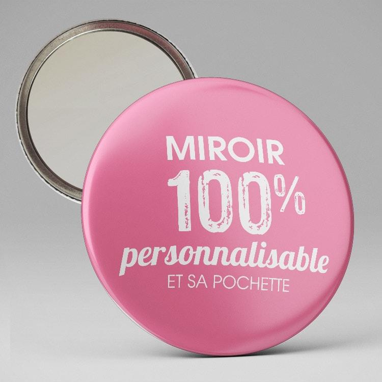 Miroir texte et visuel personnalisable