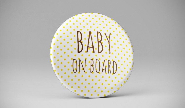 Badge Baby on board pour femme enceinte