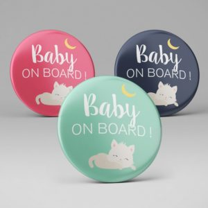 Badge mignon baby on board