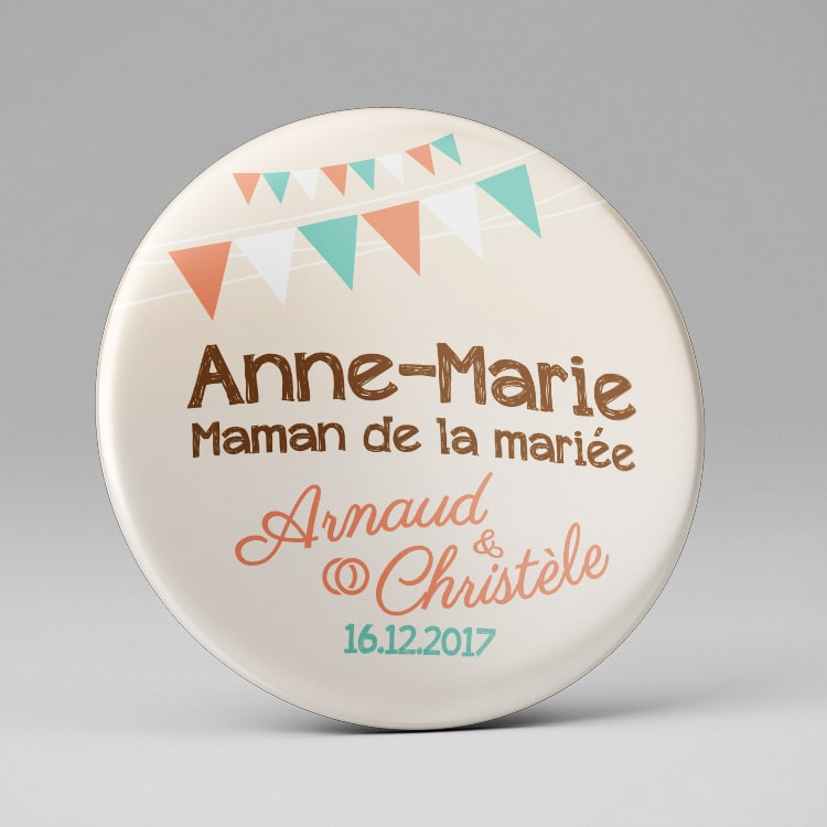 Badge plan de table mariage