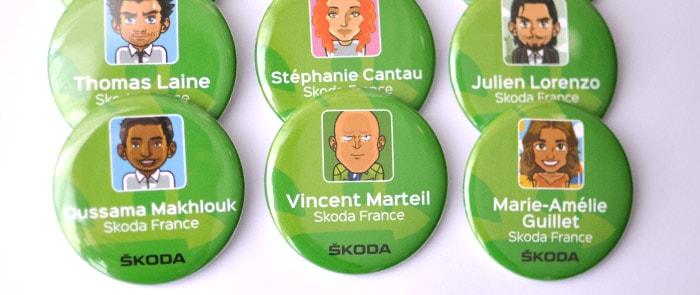 Badges goodies cadeau sémainaire d'entreprise