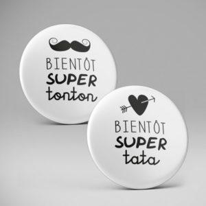 Badge ou magnet Super tonton / tata