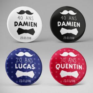 Cadeau invité anniversaire / Moustache + Noeud papillon