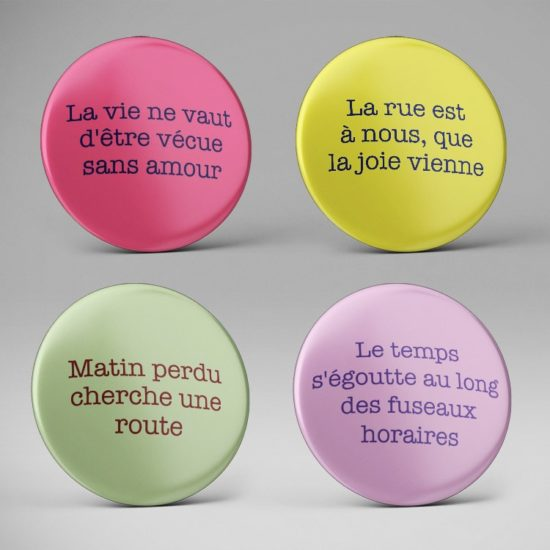 Badge fun paroles de chanson des années 80