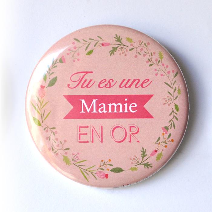 Magnet ou miroir Mamie en or