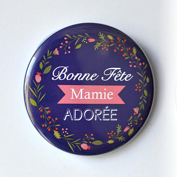 Magnet ou Miroir Bonne fête mamie
