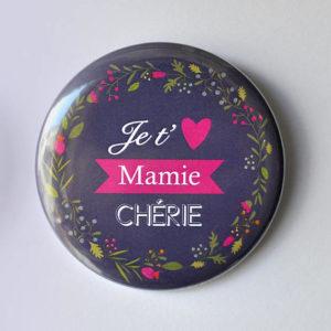 Magnet ou miroir Je t'aime mamie