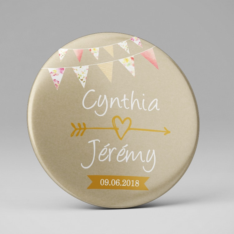 Magnet aimant save the date mariage