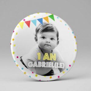 Badge ou magnet personnalisé / Anniversaire enfant
