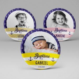 Baptême / Magnet souvenir personnalisé / Marin