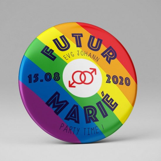 Badge EVJF - EVG / Mariage gay