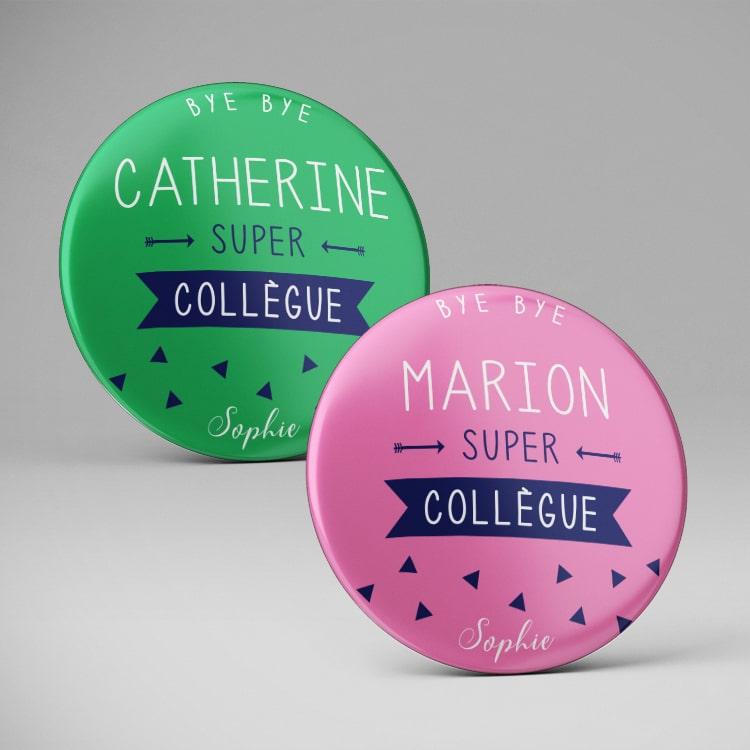 Extremement Badge magnet / Cadeau de départ original / Super collègue SD-41