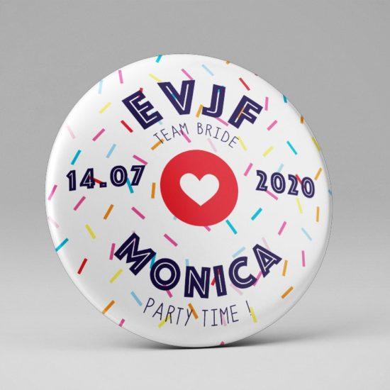 Badge EVJF / Souvenir / Thème coloré