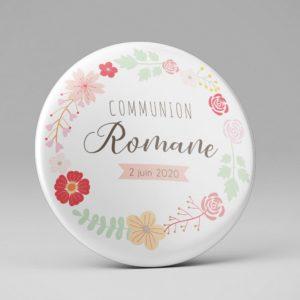 Communion / Cadeau souvenir / Couronne de fleurs