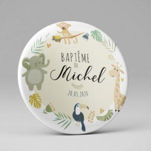 Baptême / Magnet / Cadeau souvenir invités / Thème Savane