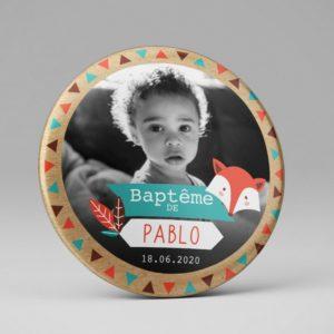 Magnet souvenir / Baptême photo indien