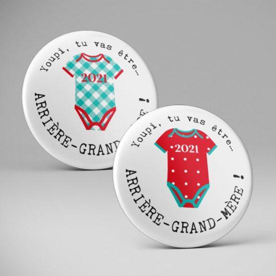 Badge ou magnet Super Papi / Mamie / Arrière grands parents