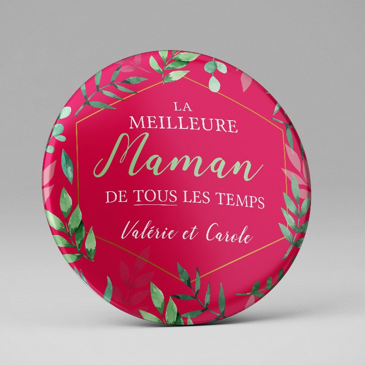 Miroir original fête des mères personnalisé
