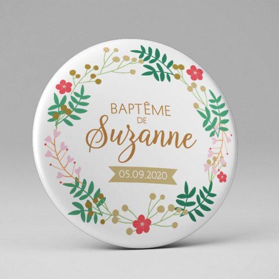 Baptême / Magnet / Cadeau souvenir invités / Thème Bohême