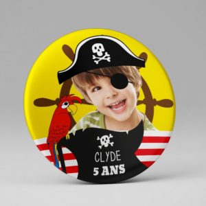 Magnet photo / Souvenir anniversaire / Pirate