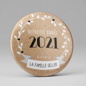 Carte meilleurs voeux / Original / Aimants frigo