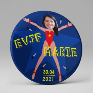 Badge souvenir EVJF / Photo / Rigolo
